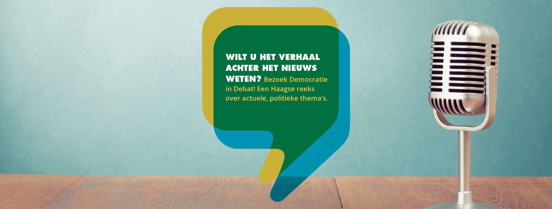 Democratie in debat banner